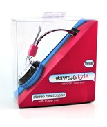 Vivitar Swagstyle Stereo Headphone With In-Line Mic Keep Calm & Eat Cupc... - $15.83