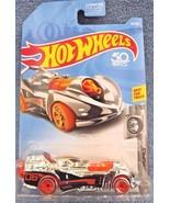 2018 Hot Wheels #59 Super Chromes 9/10 POWER ROCKET Chrome w/Orange Whee... - $5.89