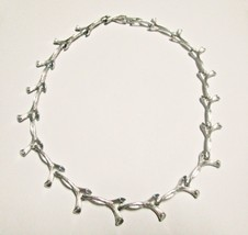Vintage Silvertone Choker Necklace 16 Inches Long - $5.95