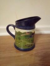 Hallmark Valerie Pillow Country Village/Farmhouse/Pasture colored grey pitcher - $34.65