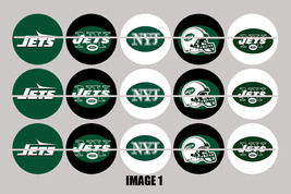 Printed Precut NEW YORK JETS inspired 1 inch images for bottlecaps, craft - $2.00