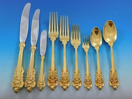 Golden Grande Baroque by Wallace Sterling Silver Flatware Set Dinner 72 ... - $6,831.00