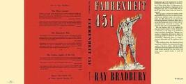 Ray Bradbury Fahrenheit 451 Facsimile Polvere Copertura per First UK Edi... - $22.61