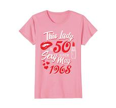 Funny Shirts - Vintage May 1968 50th Birthday Gift 50 yrs This Lady Awesome Wowe image 2