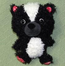 "Hallmark Plush SKUNK Curly Hair Red Ears Feet XO 8"" Plush Stuffed Animal... - $14.03"