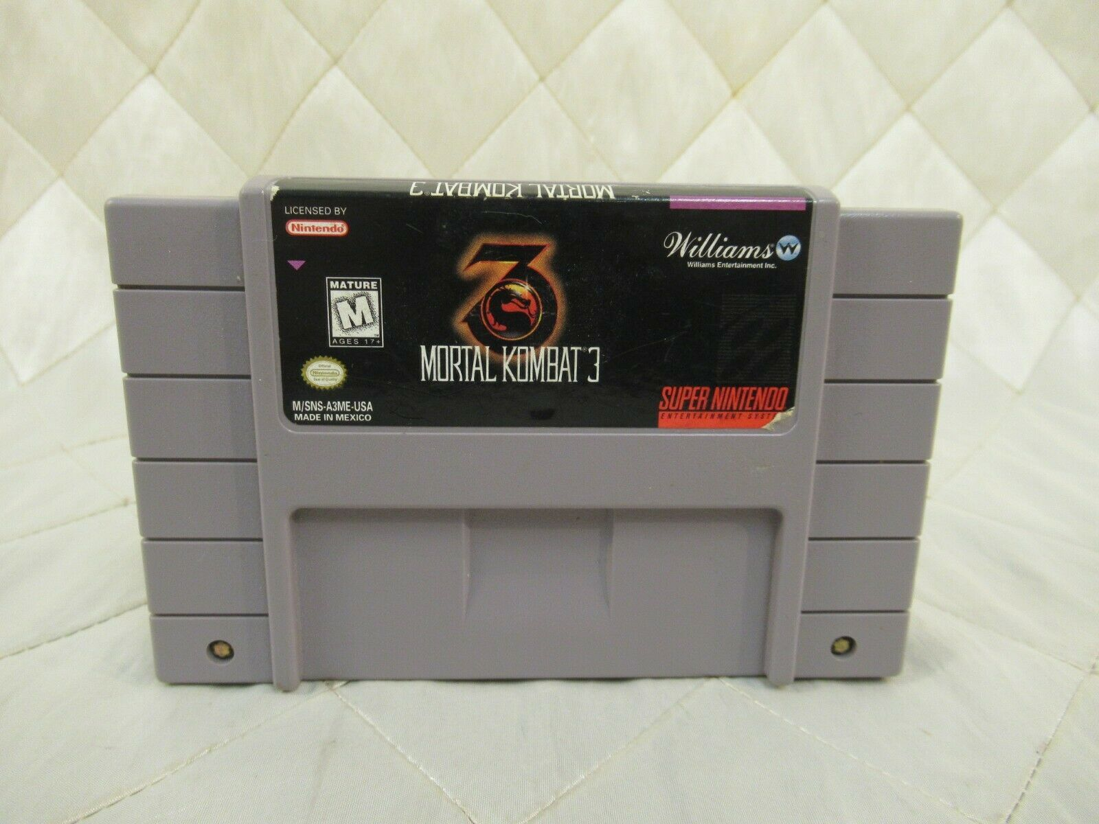 Mortal Kombat 3 (Super Nintendo Entertainment System, 1995) SNES Video Game