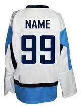 Custom Name # Team Finland Retro Hockey Jersey New Sewn White Any Size image 2