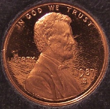 1987-S Deep Cameo Proof Lincoln Memorial Penny #01050 - $3.59
