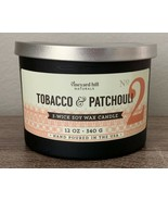 Vineyard Hill Naturals Candle Tobacco & Patchouli 3 Wick Soy Wax Candle ... - $39.95
