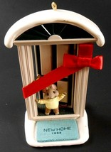 NEW HOME 1998 Hallmark Ornament Mouse in Doorway with Ribbon Artist Ed S... - $9.89
