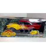 Ertl 1:18 1957 Chevy Bel Air Chevrolet Ready to Rumble Diecast red w/ fl... - $39.50