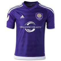 Orlando City SC adidas Authentic Home Soccer Jersey 2015 Purple Small 7418A MLS - $79.19