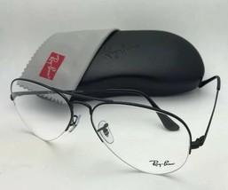 New RAY-BAN Eyeglasses RB 6589 2509 56-15 140 Aviator Semi Rimless Black Frame