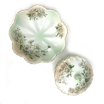 Limoges Bowl w Lid 3 Footed Dish Set Daisy Farmhouse Cottage Chic - $53.20