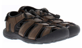 Brand New Khombu Mens Black or Brown Travis Active Hiking Summer Sandals NWT