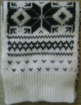Ralph Lauren Blue Label Women's Snow Flake Lambs Wool Scarf Ivory/Black NEW W T. - $149.50