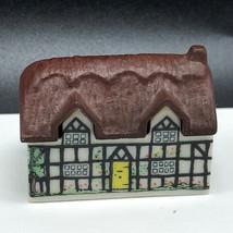 WADE WHIMSIES MINIATURE FIGURINE ENGLAND UK porcelain village cottage ho... - $37.62