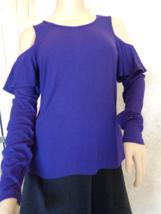 Michael Kors Iris Cold Shoulder Basics Long Sleeve Blouse Size Med (#2930)  - $49.99