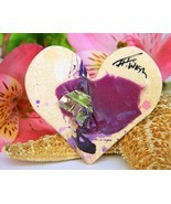 Heart Brooch Pin Charles Washington III Houston Texas Folk Artist - £19.11 GBP