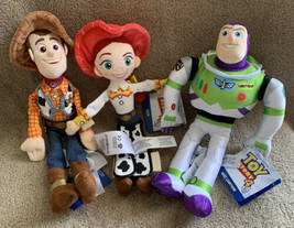 Disney Toy Story Sheriff Woody Jessie Buzz Lightyear Bean Bag Plush Doll... - $34.64