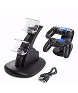 Ck for sony playstation 4 controller gamepad handle cradle double charging charger for thumbtall
