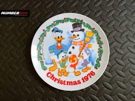 Walt Disney Schmid Christmas 1976 Donald Duck Huey Duey Louie Vintage Plate - $23.75