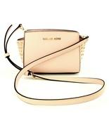 Michael Kors Selma Ballet Pink Leather Cross Body Bag Small Handbag - $216.87