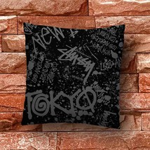Stussy Graph Throw Pillow Case Decorative Cushion Cover - $11.90