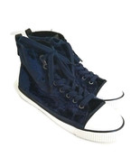 Calvin Klein Womens Velvet High-Top Sneakers Navy Blue Size 8.5-9? Sampl... - $39.59