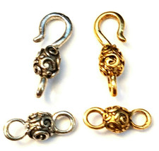 HOOK AND EYE FINE PEWTER TOGGLE CLASP SET