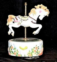 Horse Carousel Music Box (1980's) Works AA18 - 1104Vintage