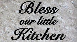 """Bless our little Kitchen Wall Quote Vinyl Sticker Decal 14.5"""" h x 22"""" w - $14.99"""