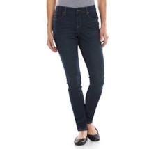 NWT SONOMA Womens Slim Straight Comfort Stretch Jeans 24W Dark Wash Petite Short - $21.99