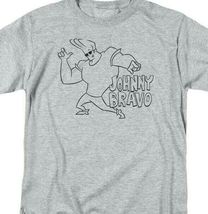 Johnny Bravo T-shirt cartoon network Retro 90's heather gray graphic tee CN465 image 4