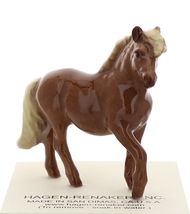 Hagen-Renaker Miniature Ceramic Horse Figurine Chestnut Shetland Pony Mare