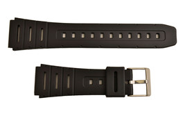 20MM WATCH BAND  BLACK Resin  FIT CASIO  CA-53W W-720 W-520U CA-61W DB-5... - $10.75