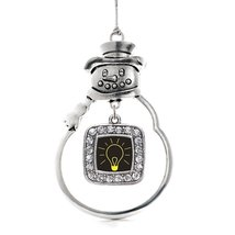 Inspired Silver Bright Idea Classic Snowman Holiday Christmas Tree Ornament With - $14.69