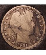 1901-S Barber Silver Half Dollar LOW MINTAGE #0657 - $33.99