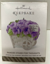 PANSIES STAND FOR THOUGHTS ~ Thinking of You~Hallmark Keepsake Ornament~... - $6.88