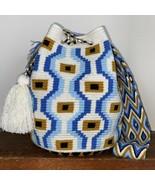 Authentic 100% Wayuu Mochila Colombian Bag Large Size evil eye crossbody... - $89.00