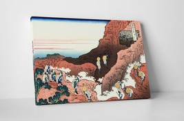 Japanese Art Katsushika Hokusai Climbing Mt. Fuji Gallery Wrapped Canvas... - $44.50+