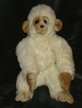 "RARE VINTAGE GUND - WHITE / CREAM / IVORY MONK-KEES MONKEY -LARGE - 16"" ... - $64.34"