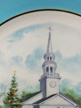 Vintage AVON Christmas Plate Series COUNTRY CHURCH 2nd Edition 1974 WEDGWOOD image 2