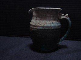 Flagg Pottery, Chillicothe, IL Hand Thrown Clay Pitcher 4 Inches Tall  - $14.99