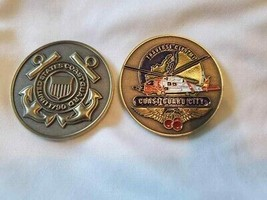 "COAST GUARD STATION TRAVERSE CITY HELICOPTER 1.75"" CHALLENGE COIN  - $17.09"