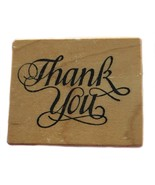 Rubber Wood Stamp Stamping Crafting Thank You Gift Tag PSX C-732 - $9.89