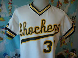 Vintage Wichita State Shockers Randy Young Authentic Game Worn Baseball Jersey  - $197.99