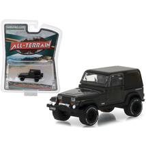 1990 Jeep Wrangler Dark Grey All Terrain Series 6 1/64 Diecast Model Car... - $13.15