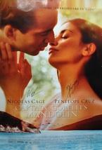 "CAPTAIN CORELLI'S MANDOLIN Signed Movie Poster x2 - Cage, Cruz  27""x 40""... - $409.00"