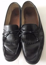 Allen Edmonds Black Leather Kiltie Tassel Slip On Dress Loafers Shoes Sz 15D EUC - $74.99